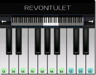 Perfect Piano interface