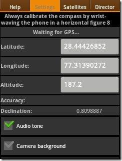 Satellite GPS settings