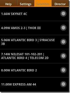 Satellite list