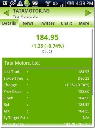 Stock Watcher details