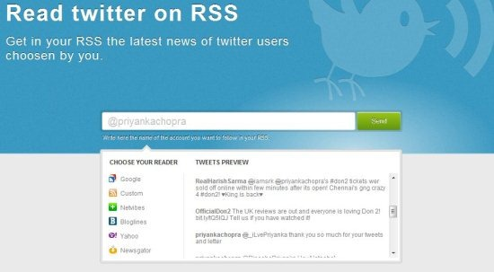 Twitter to RSS