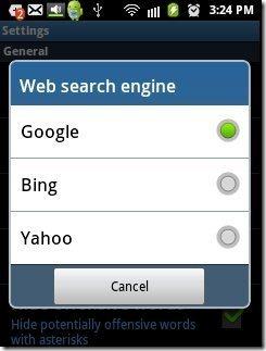 Vlingo Search Engine