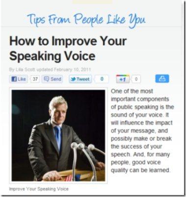 Improve Voice eHow