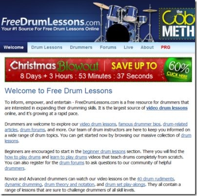 freedrumlessons