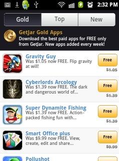 getjar gold section