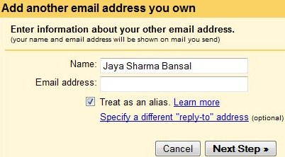 gmail account add