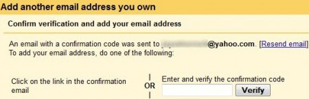 gmail account verify code