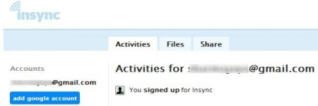 insync page after signup