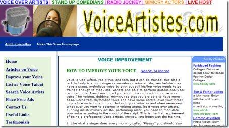 Improve Voice voiceartistes