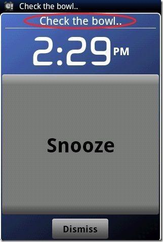 Android Alarm Clock App Label
