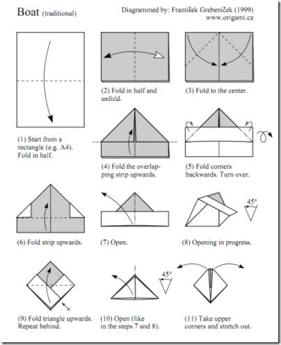 Step By Step Printable Origami Instructions - All About Craft | 496x404