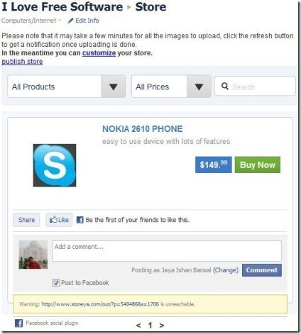 Facebook Store StoreYa 002