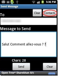 Free SMS India Contacts Import
