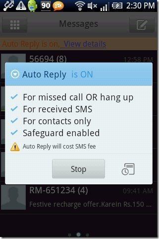 Go SMS Pro Auto reply