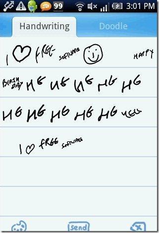 Go SMS Pro Handwriting option