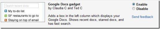 Google Docs Gadget 001