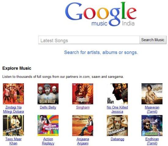 Google Music India