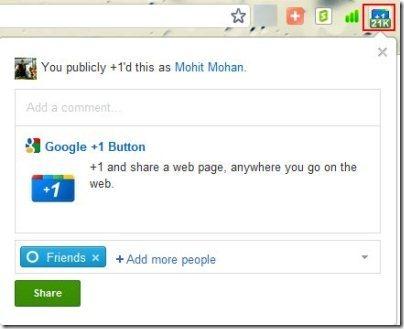 Google Plus One Extension 001