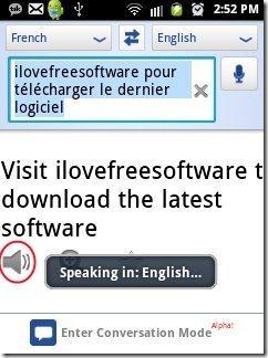 Google Translate Speaks