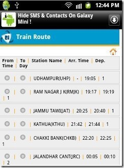 IRCTC Train Route