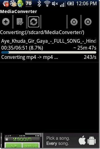 MP3 Media Converter process