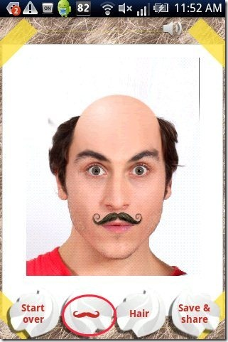 Make Me Bald App Mustaches