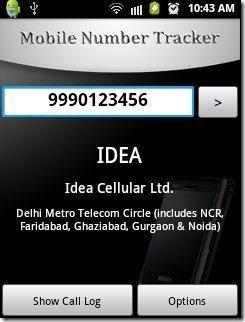 Mobile Number Tracker App