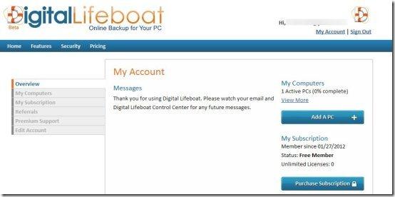 Online Backup Service 003