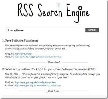 RSS Search Engine 001