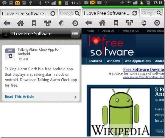 Skyfire Browser 4.0 options