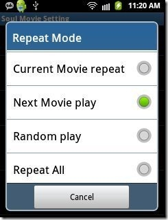 Soul Movie Repeat options