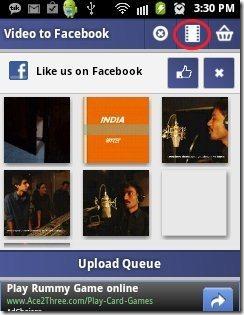 Video To Facebook Video button