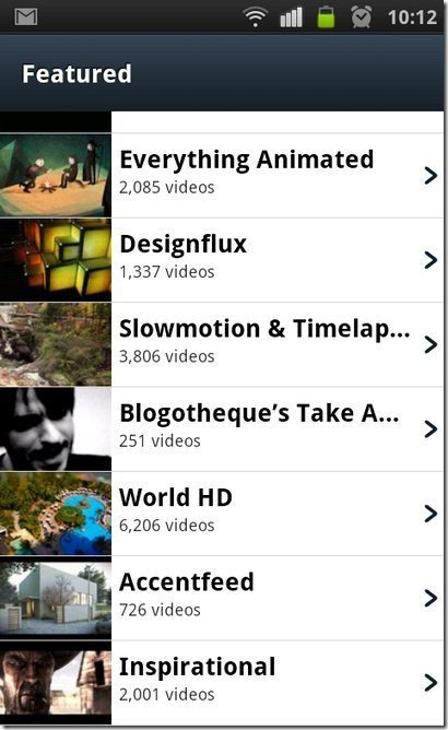 Vimeo Fetured Videos