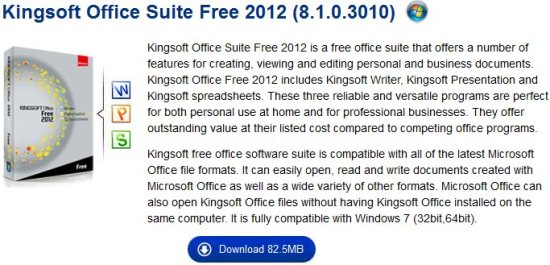 kingsoft office suite free