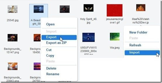 AirDroid Export And Import