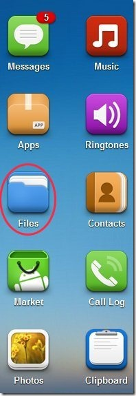 AirDroid File Option