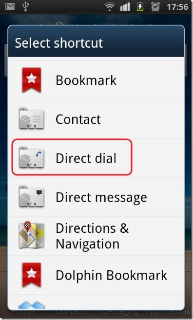 Android Direct Dial