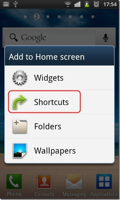 Android Shortcut