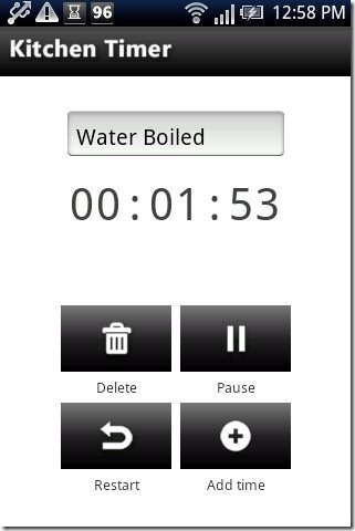 Android kitchen Timer