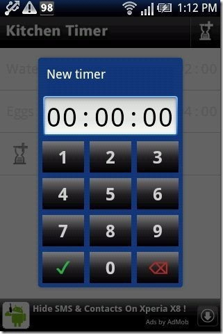 Android timer time format