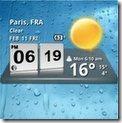 Android weather widget