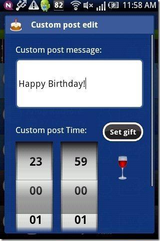 Birthday Scheduler App Gift Post