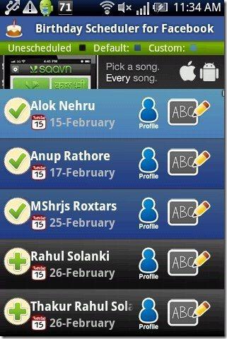Birthday Scheduler App