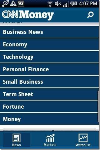 CNNMoney App