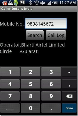 Mobile Number Tracker Android App: Caller Details India