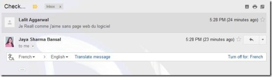 Gmail Translate