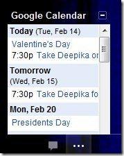 Google Calendar in Gmail