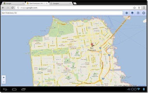 Google Chrome Desktop view