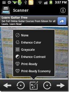 Handy Scanner App Options