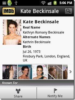 IMDB Celeb info